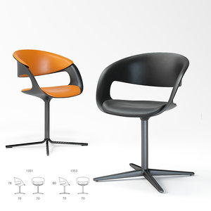3D model walter knoll lox chair