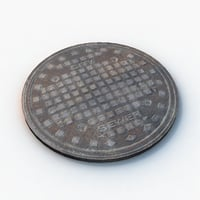 sewer hatch 3D model