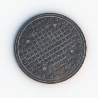 Sewer lid (game ready)