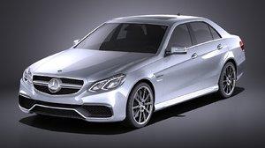 3D model sedan 2015 mercedes