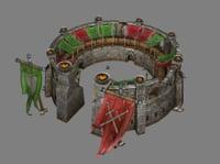 arena battles gladiators 3D model