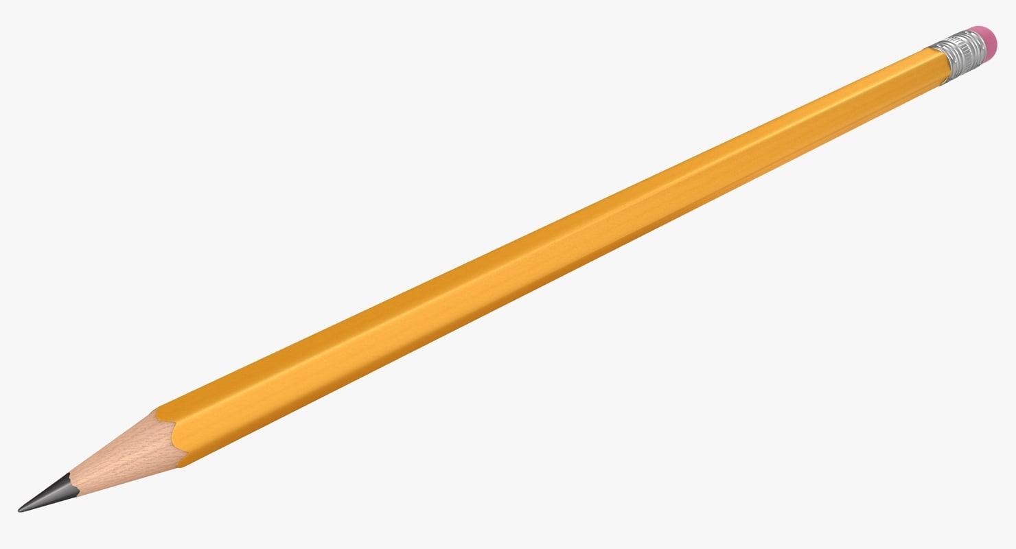3D realistic pencil