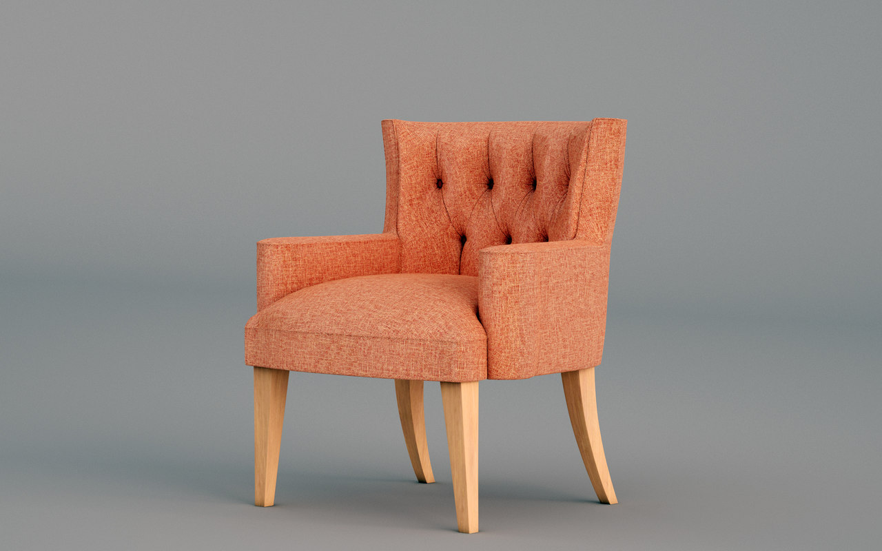 accent chair 3D