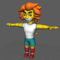 3D character lion model