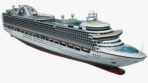 cruise ruby princess ship 3D model