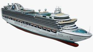 cruise ruby princess ship 3D model