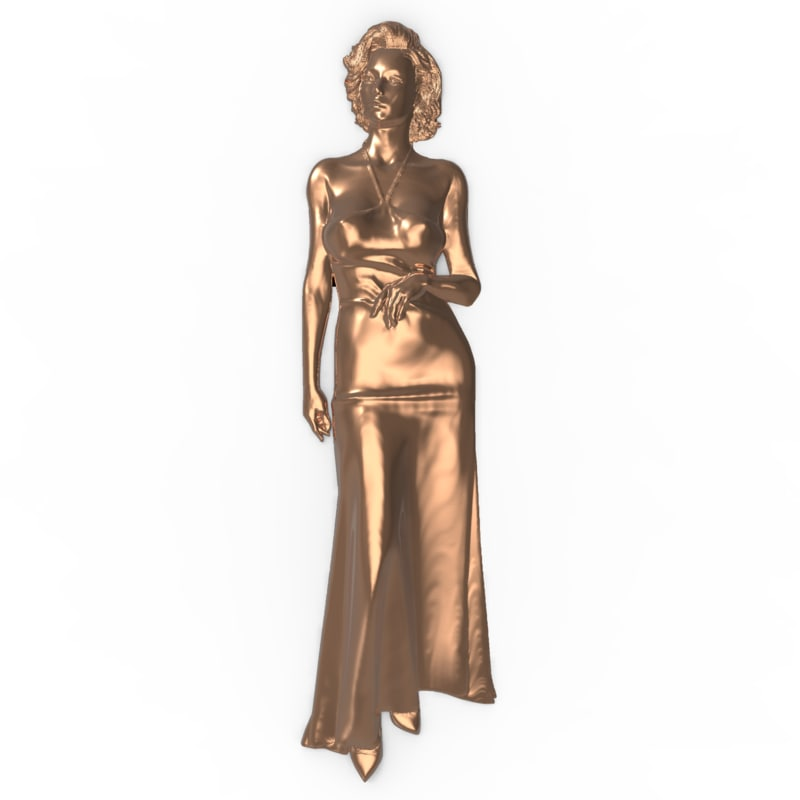 bas relief beautiful woman 3D model