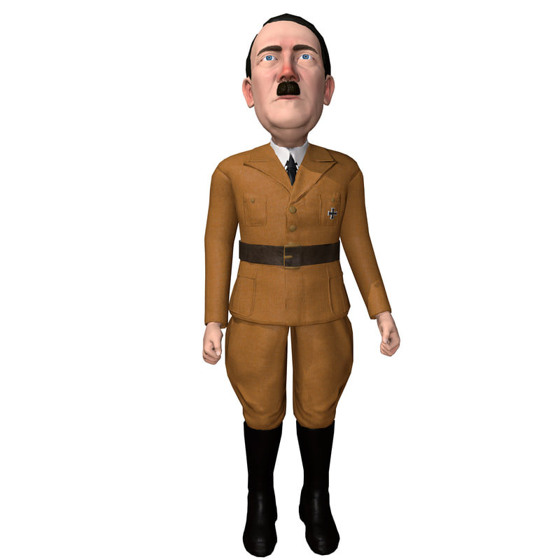 3D caricature hitler rigged character