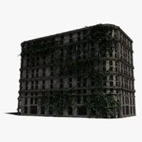 3D abandoned hotel ivy model