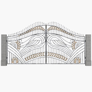 gates wing ornament 3D