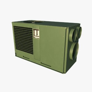 military environmental control unit 3D model