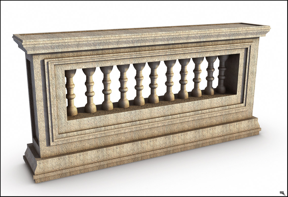 3D railing classi greek