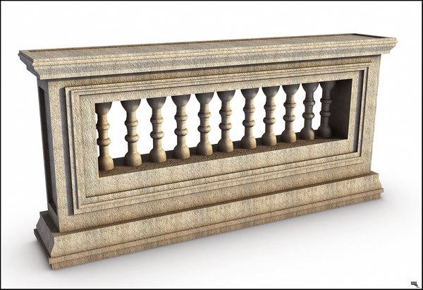 3D railing classi greek