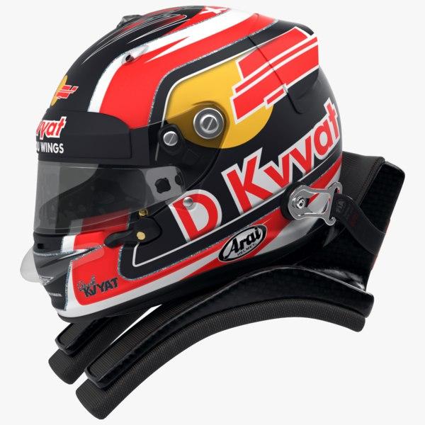 3D racing helmet daniil kvyat model