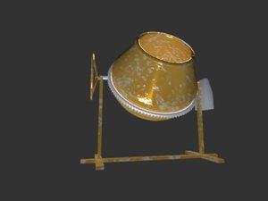 concrete mixer 3D model