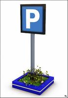 parking sign model