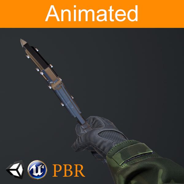 fps hands axe model