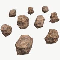 3D model pack stones