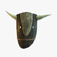 fantasy mask bull 3D model