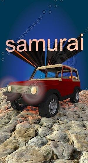 3D samurai model