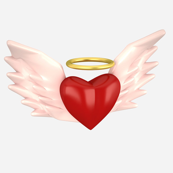 3D heart angel model