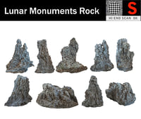 lunar rocks pack 9 model