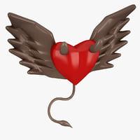 heart devil evil 3D model