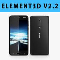 E3D - Nokia 5 2017 Black model