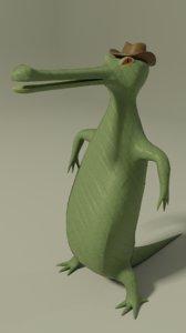 bold gavial 3D model