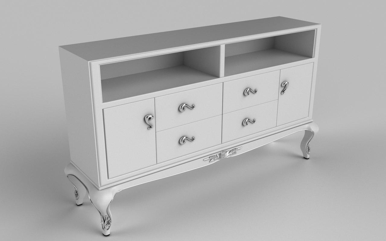 3D bedside table
