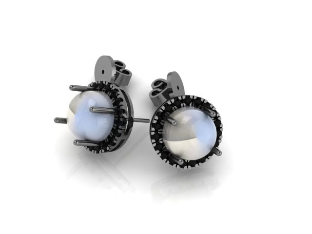 3D cabochon earring model