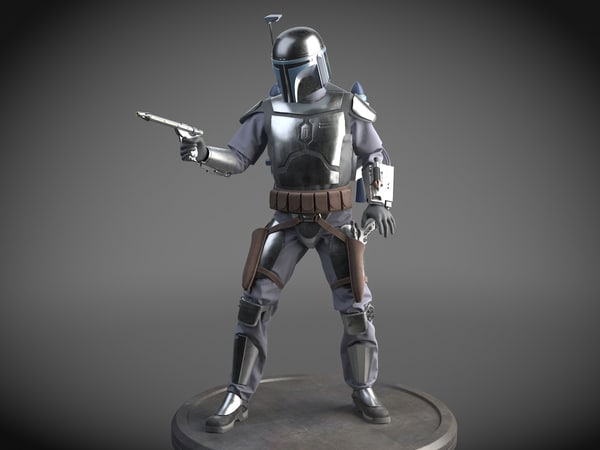 star wars jango 3D