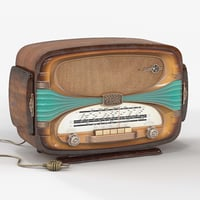 3D model french tabletop radio
