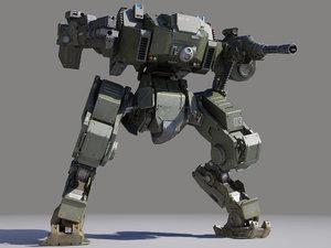 mech fighter 3D model