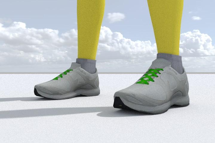 3D sneakers games pbr model