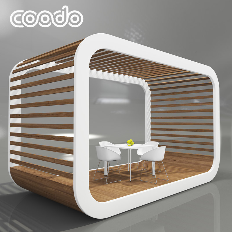 coodo pergola white edition 3D model