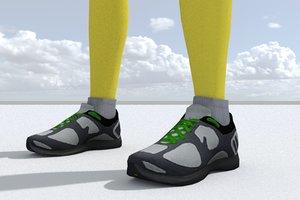 sneakers games pbr 3D model