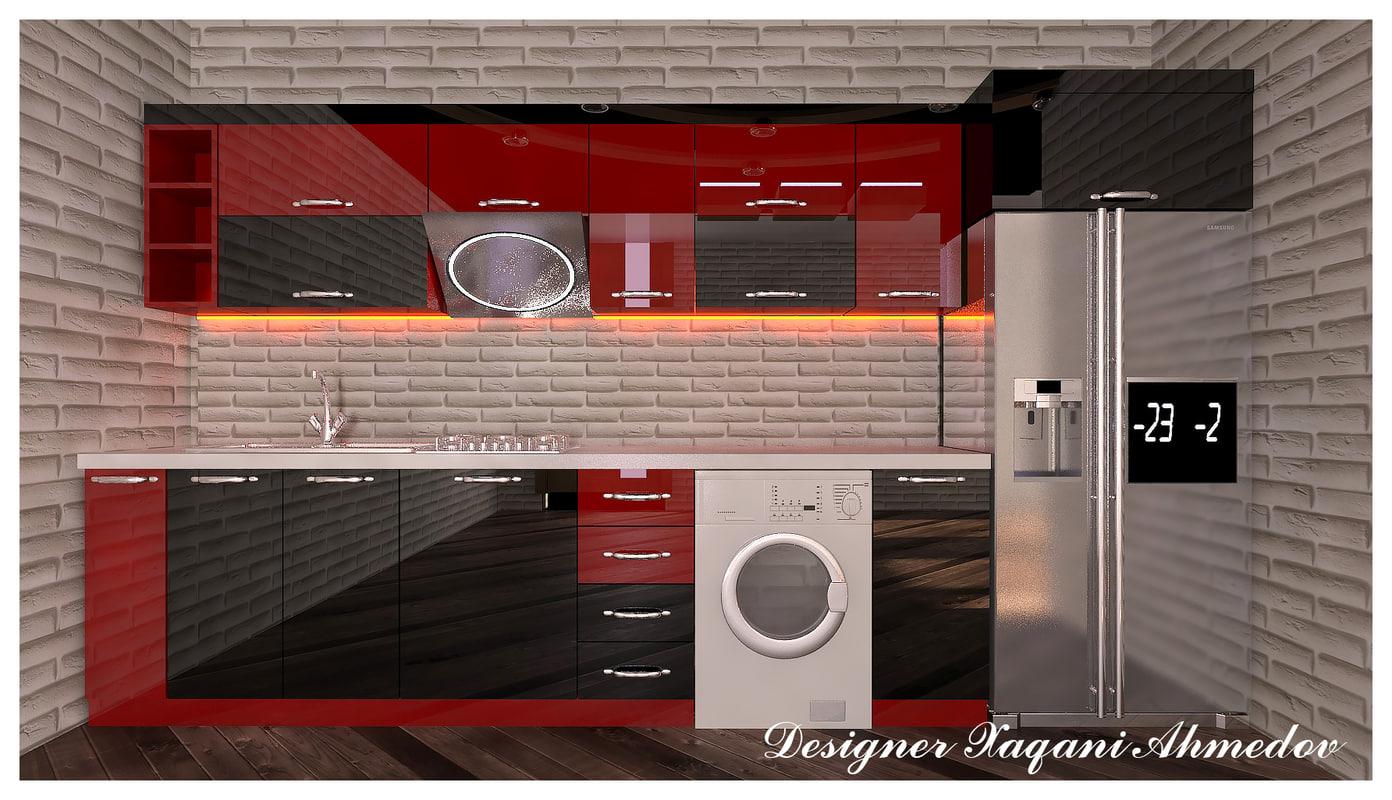 3D kitchen modern eminred