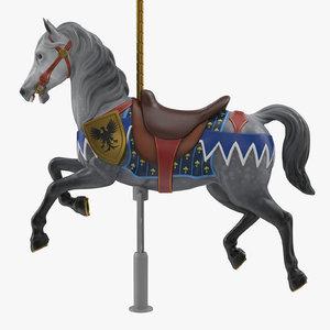 carousel horse v4 3D