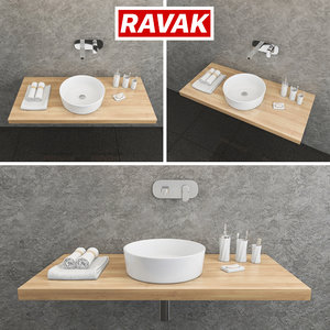 3D ravak moon 1 washbasin model