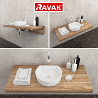 3D ravak moon 1c washbasin
