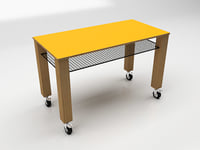 3D model table industrial worktable
