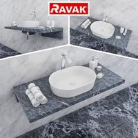 ravak moon 2 washbasin 3D model