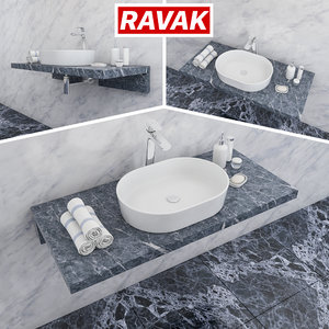 ravak moon 2 washbasin 3D model