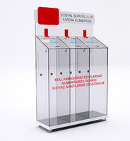 3D model glass box social