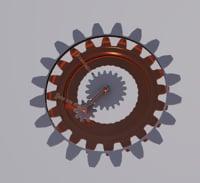 expresso cogwheel clock model
