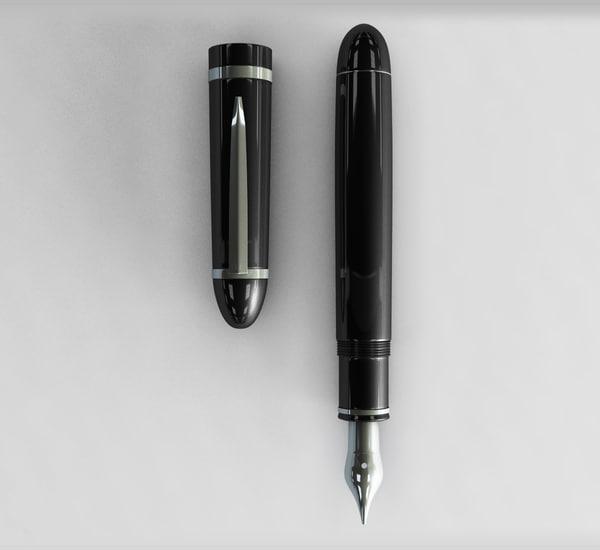3D model fountain pen
