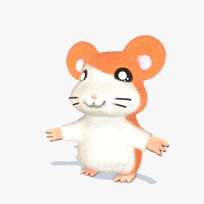 3D cartoon hamster