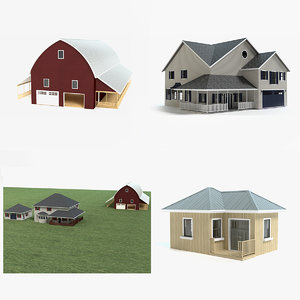 farm country barn 3D model