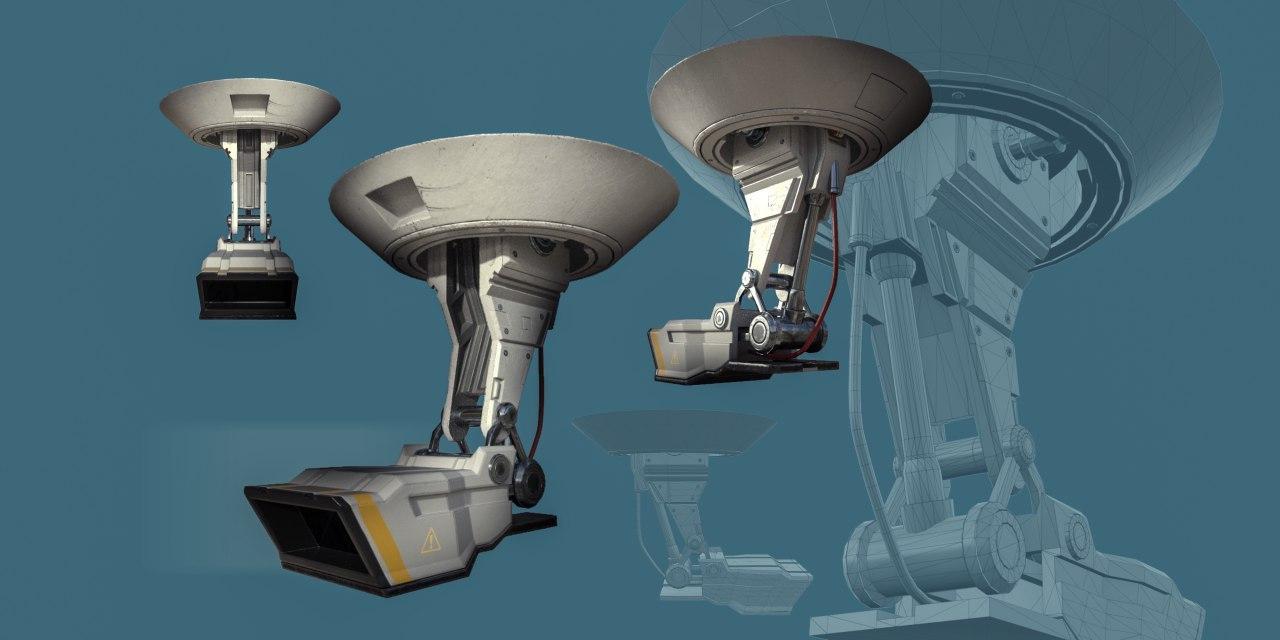 3D cctv camera equipment model